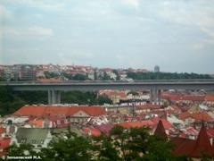 Путепровод в Праге на высоте более 50 метров. Район Вышеграда