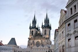 Прага. Тынский храм внутри
