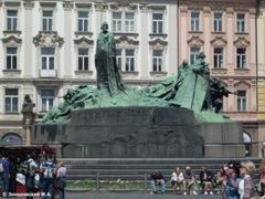 Прага. Памятник Яну Гусу, установленный 07.07.1915