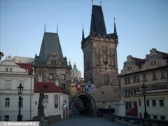Прага. Карлов мост, а за ним Мала Страна