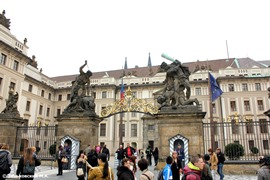 Караул у Королевского дворца в Пражском Граде
