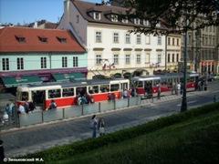 Прага. Трамвайная остановка Ujezd на Малой Стороне