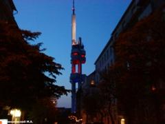 Прага. Жижковская телевизионная башня