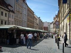 Туристический рынок в самом центре Праги