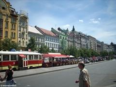 Кафе «Трамвай» в центре Праги на Вацлавской площади