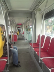 Салон трамвая Škoda 14T в Праге