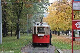 Ностальгический трамвай в Праге