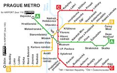 Карта Пражского метрополитена