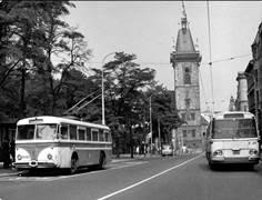 Прага. Тролейбус Skoda Tr8 модель 1959 года